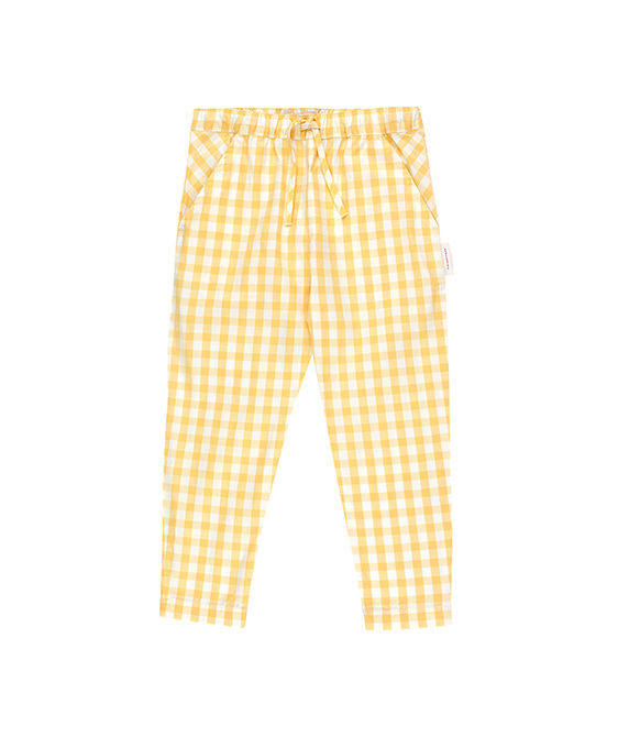 Check Cropped Pant - Off-White/Canary ★ONLY 10Y★