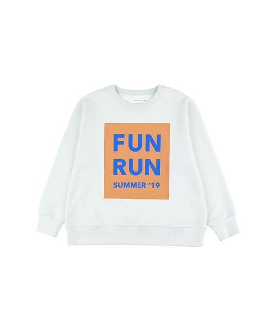 'Fun Run' Sweatshirt - Light Mint/Camel