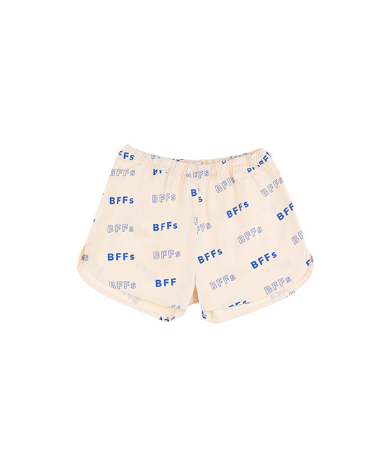 'Bffs' Short - Cream/Ultramarine