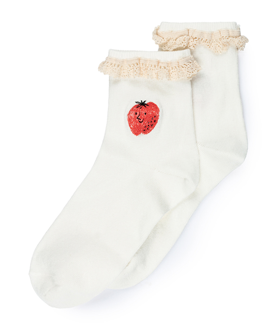 Strawberry Short Socks #128