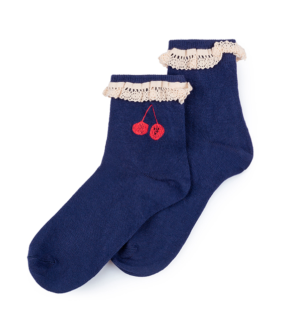 Cherry Short Socks #129