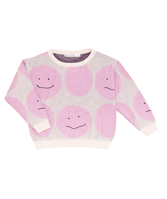 Smiley Sweater - Pink Smiley ★ONLY 2Y★