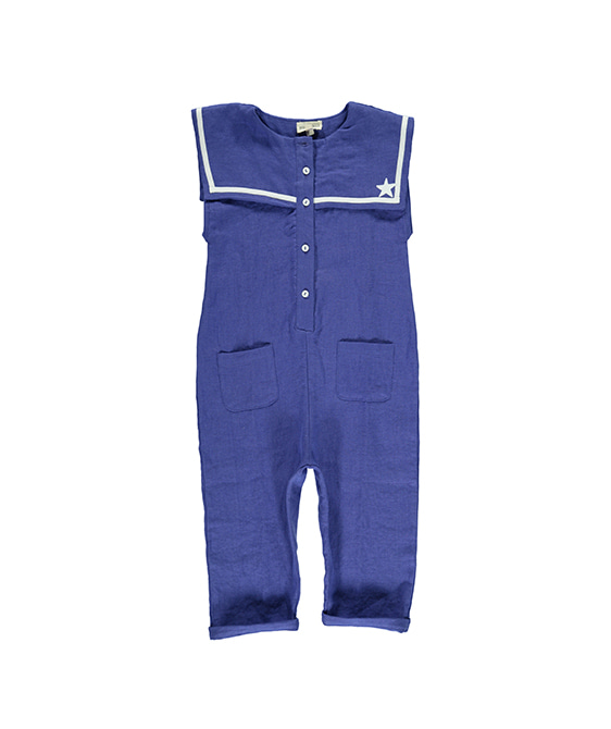 """Nazare"" Jumpsuit - Blue"