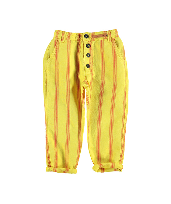Unisex Trousers - Yellow W/ Red Stripes