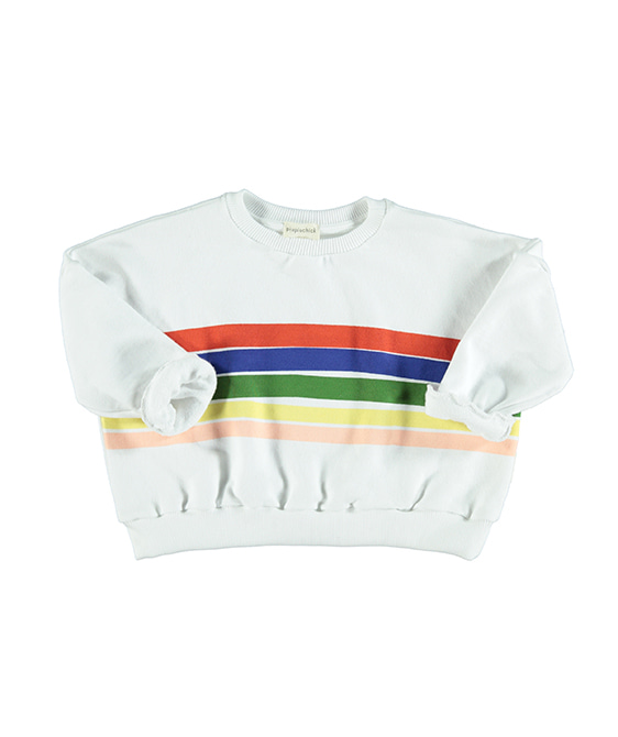 """Rainbow"" Print Sweatshirt - White ★ONLY 3Y★"