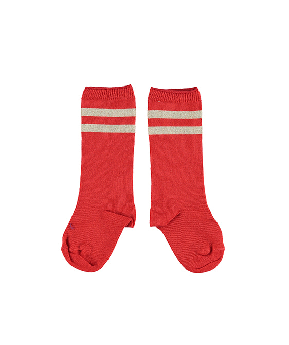 Socks - Red With Golden Stripes ★ONLY 6-12M★