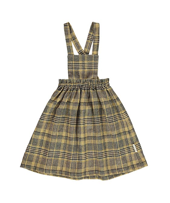 Tweed Dress - Light Brown Plaid