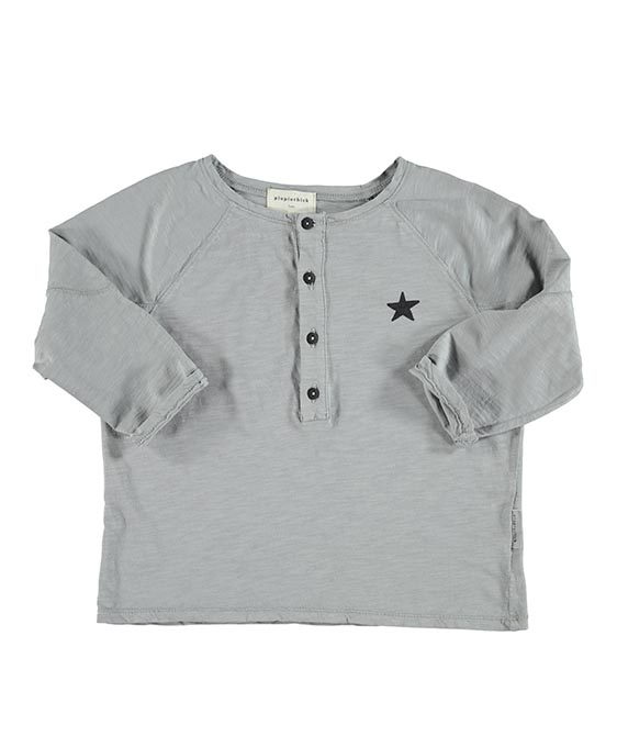Longsleeve With Logo Print - Light Grey