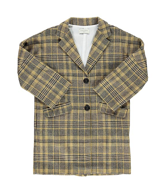 Tweed Overcoat - Llight Brown Plaid