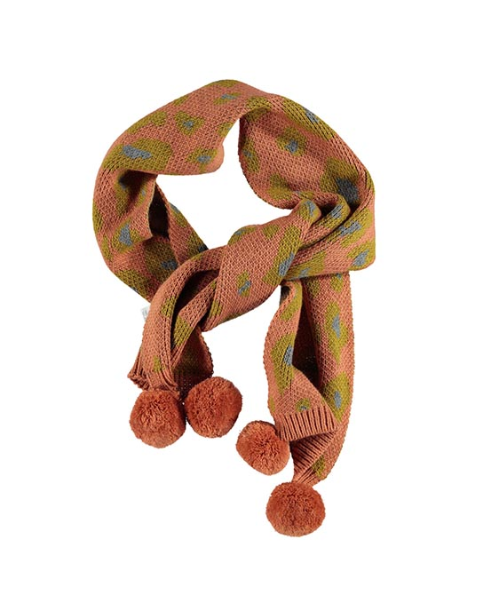 Jacard animal printKnitted Scarf