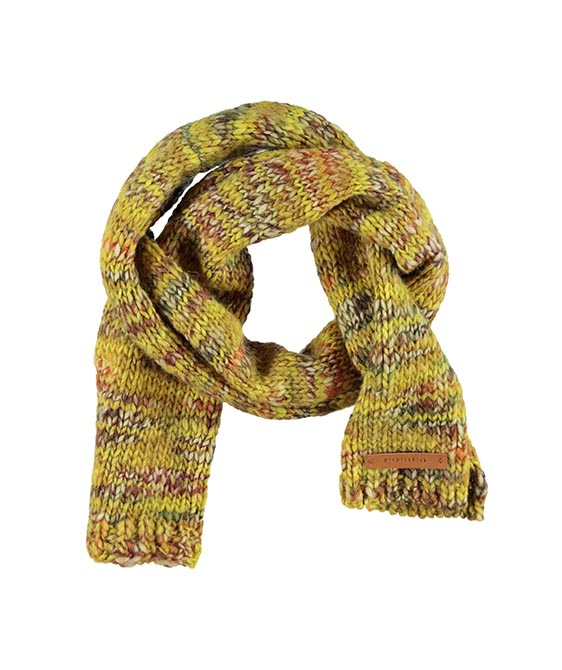 Knitted Scarf - Flecked Mustard With Mixed Colors