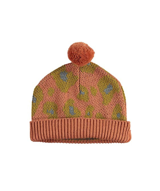 Jacard Animal Print Knitted Hat