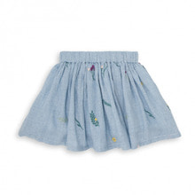 Blue Gingham Embroided Skirt - Vichy Bleu ★ONLY 6Y★