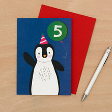 Penguin 5th B-Day Card