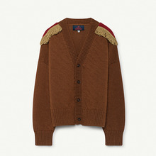 Plain Peasant Kids Cardigan - Deep Brown ★ONLY 3Y★