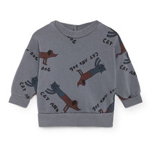 Cats And Dogs Round Neck Sweatshirt  (Baby) ★ONLY 18-24M★