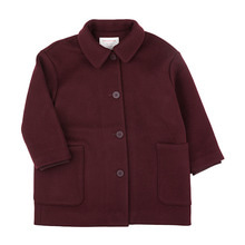 Woolen Coat - Plum ★ONLY 10Y★