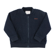 """Day"" Boucle Bomber Jacket - Navy ★ONLY 8Y★"