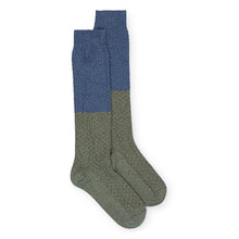 Blue and Green Long Socks