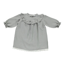 Milja Ruffles And Lace Dress - Drizzle ★ONLY 3Y★
