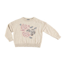 Oversize Jersey Flowers Jacquard - Beige  ★ONLY 10Y★