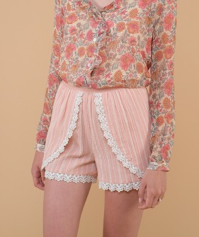Texoma Shorts - Blush Stripes