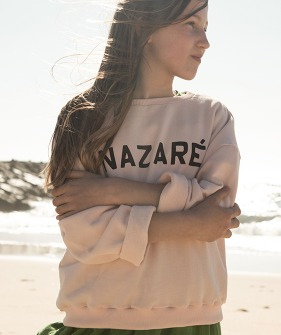 """Nazare"" Print Sweatshirt - Light Pink"
