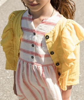 Jacket With Frills - Yellow ★ONLY 6Y★