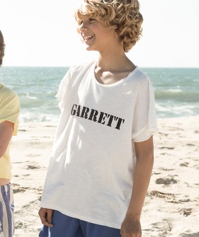 """Garrett"" Print T-Shirt  - White ★ONLY  4Y★"