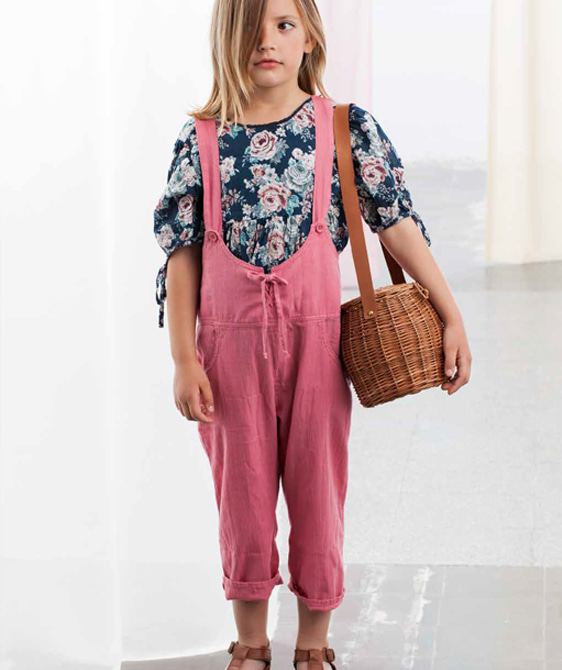 Front Pockets Dungaree  #S43019