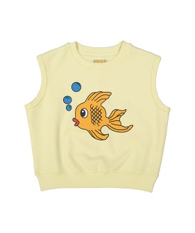 Short Sleeve Sweatshirt - Fish Chest