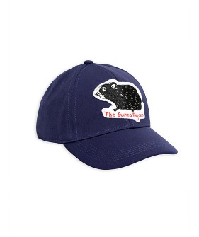 Guinea Pig Felt Patch Cap -  Navy