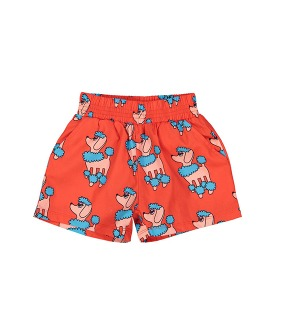 Summer Woven Short - Red Poodle