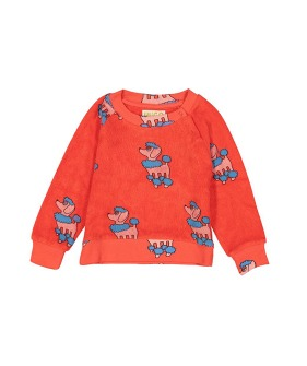 Terry Sweatshirt - Red Poodle