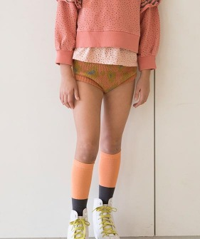 Knitted High Waisted Shorts - Coral