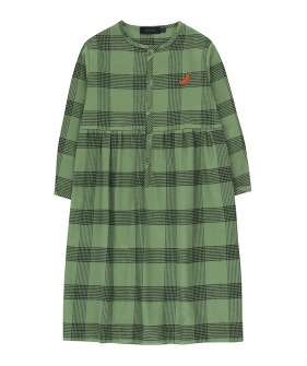 "Check ""Seal"" Dress - Green Wood/Black"