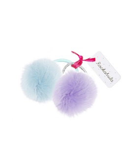 Furry Pom Pom Ponies Set - Lilac/Blue ★LAST ONE★