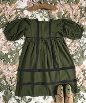 Memory Dress - Moss Green Poplin ★ONLY 6Y★