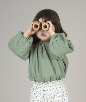 Liilu Blouse - Olive ★ONLY 6-8Y★