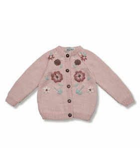 Flora Cardigan - Dusty Pink