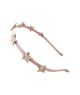 Bedazzle Glitter Star Head Band Pink