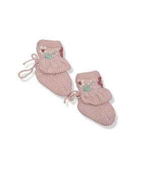 Flora Footies - Dusty Pink ★ONLY 12-18M★