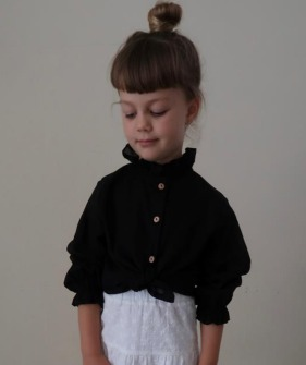Fanette Blouse - Noir Cotton