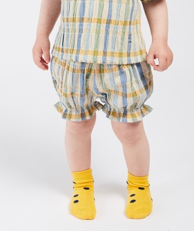 Checker Woven  Shorts  (Baby) #00058