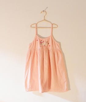 Dress Embroidery - Peach