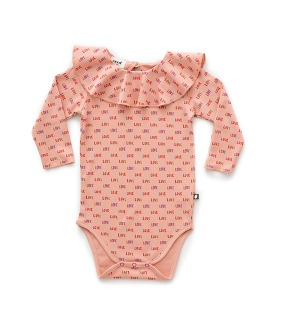 Baby Frill Onesie - Peony ★ONLY 12-18M★