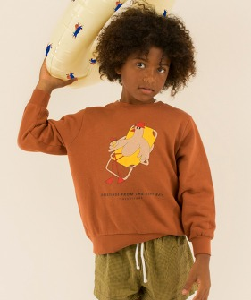 Bird Sweatshirt - Nut Brown/Yellow