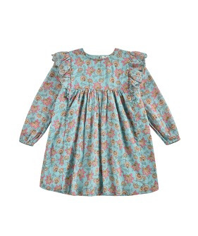 Bisiali Dress - Turquoise Flowers ◆입고지연◆