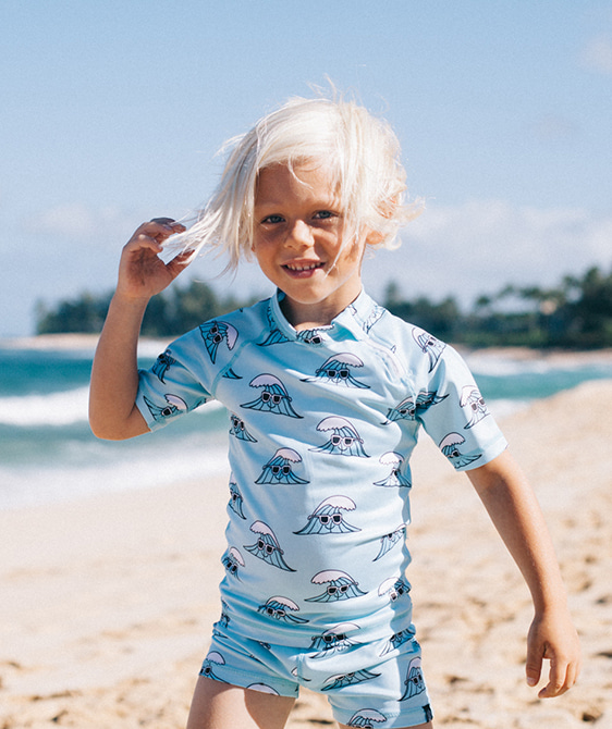 Surf's Up Tee - Light Blue