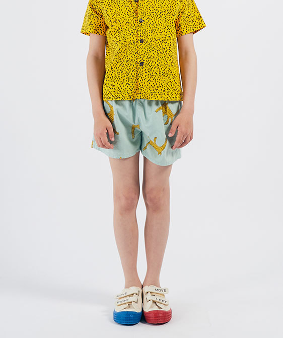Leopards Woven Shorts (Kid) #01072